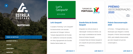 Project news Estrela Geopark site